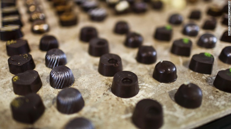 Dark chocolate is rich in cocoa solids, which contain compounds known as flavonolds. At high levels, cocoa flavanols have been shown to help lower blood pressure and cholesterol, improve cognition and possibly lower the risk of diabetes. But limit your portions to about 1 ounce a day.