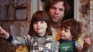Sandy Halperin poses with his daughters Karen, left, 4, and Lauren, 2, in 1984.