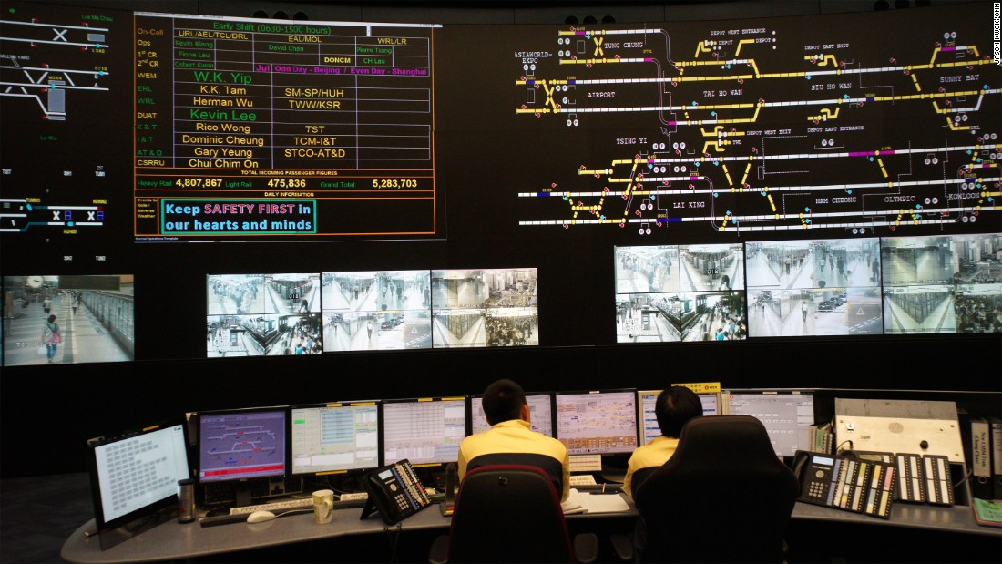 Inside The Hong Kong Metro System S Nasa Like Control Room