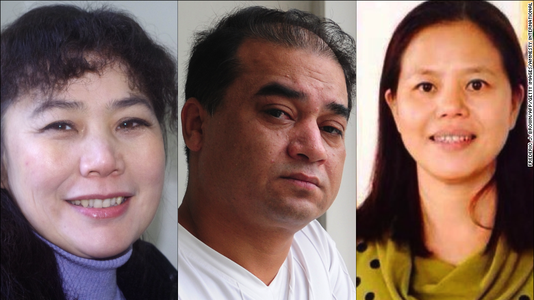 liu ping left ilham tohti center and su changlan right have