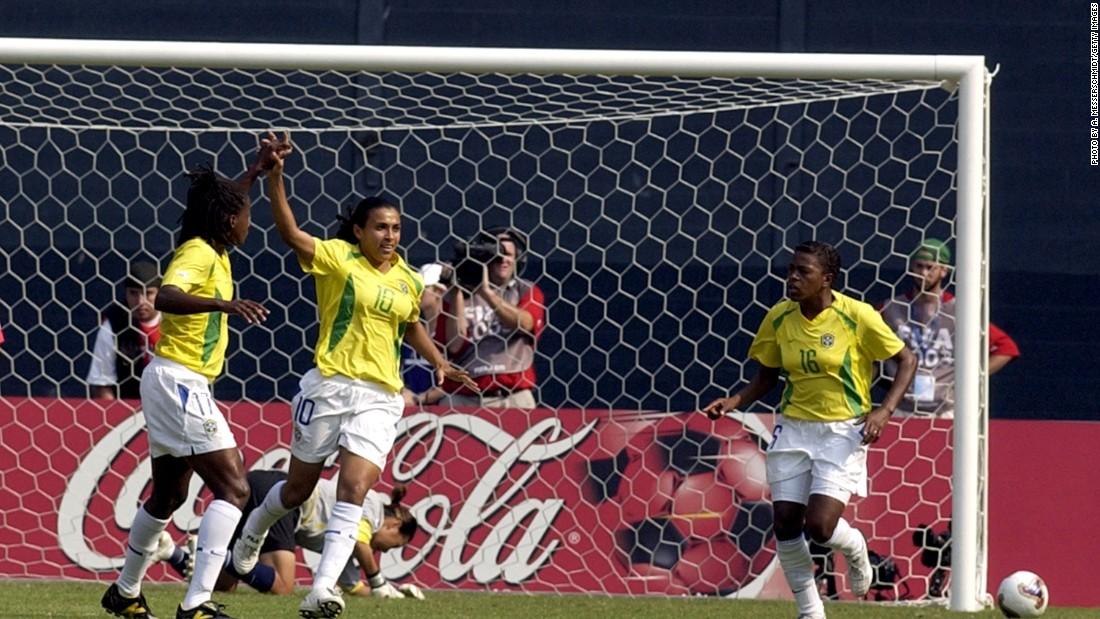 Women S World Cup Marta Breaks Scoring Record Cnn Com