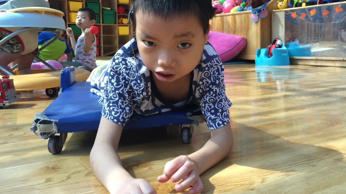 Born in 2009, Hai Cong came from China's southern region of Guangxi province, he was born with a mental disability.
