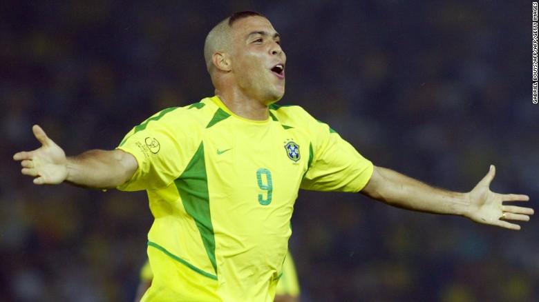 Ronaldo scored 62 goals in 98 games for Brazil.
