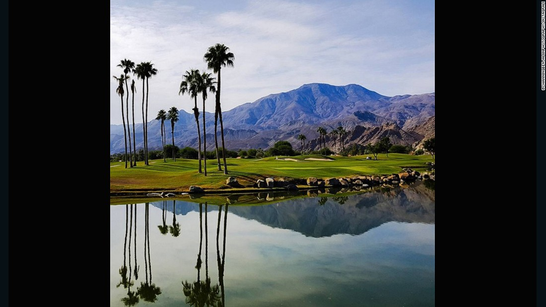 "At this course, you would be forgiven for deliberately aiming your ball towards the water hazard. The still, crystal water creates the perfect canvas to mirror the backdrop of palm trees and mountains. <a href=""https://instagram.com/channingbenjaminphotography/"" target=""_blank"">@channingbenjaminphotography</a> described it as: ""The best!"""
