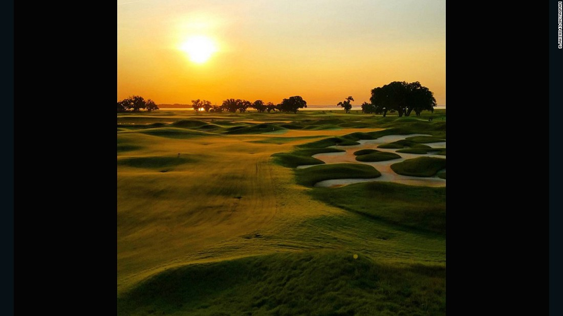 """The Pete Dye clubhouse is blessed with a magnificent sunrise,"" the club says on its website. ""While the Jack Nicklaus Clubhouse enjoys stunning sunsets."" Based on <a href=""https://instagram.com/jakew843/"" target=""_blank"">@jakew843</a>'s shot, they certainly have a point."