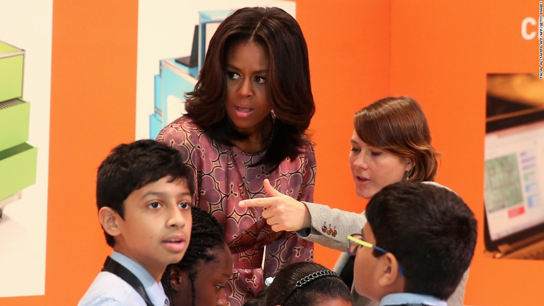 Pleasant Michelle Obamas Let Girls Learn Gets New Song Cnn Com Hairstyle Inspiration Daily Dogsangcom