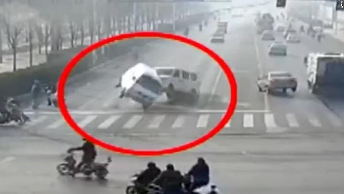 China Levitating Car Accident