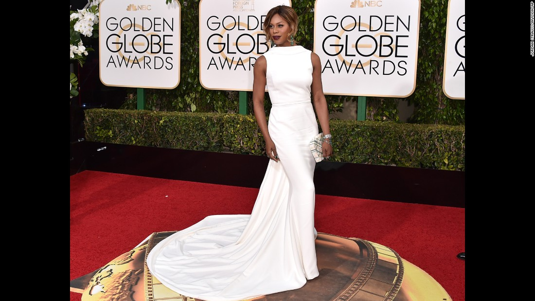 Laverne Cox. Photos: Golden Globes ...