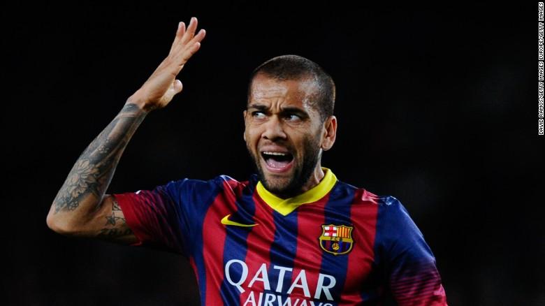 Dani Alves is the man who makes Neymar laugh the most.