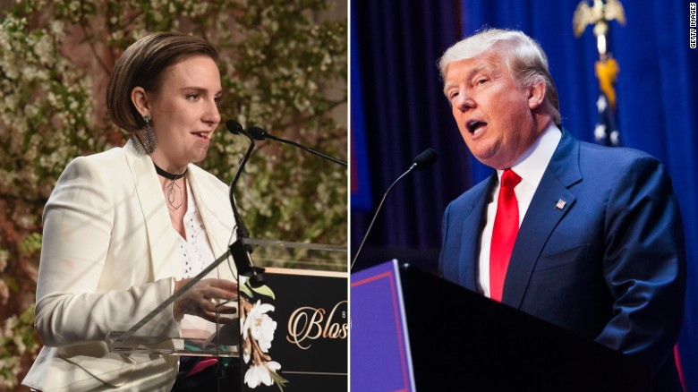 Oh, Canada, here I come... if Trump wins, Lena Dunham says.