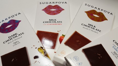 What do Maria Sharapova's chocolates taste like?