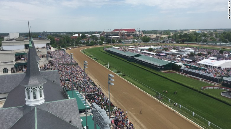 The Kentucky Derby, held at Churchill Downs, Louisville, welcomed 167,000 spectators in 2016, just 3,000 short of the previous year's record.