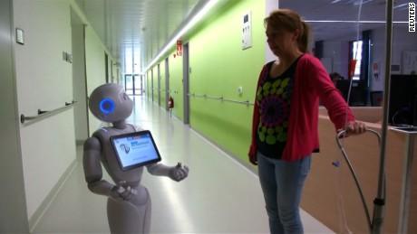 robot receptionist gets job at belgian hospital  hospital