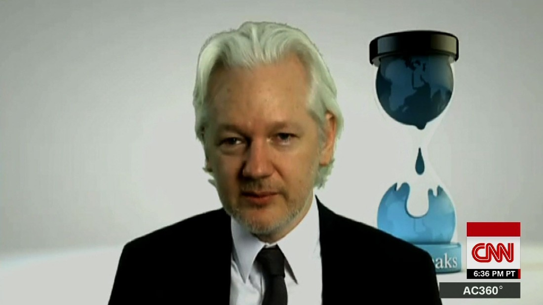 image of Assange won't say if Russia is behind DNC hack