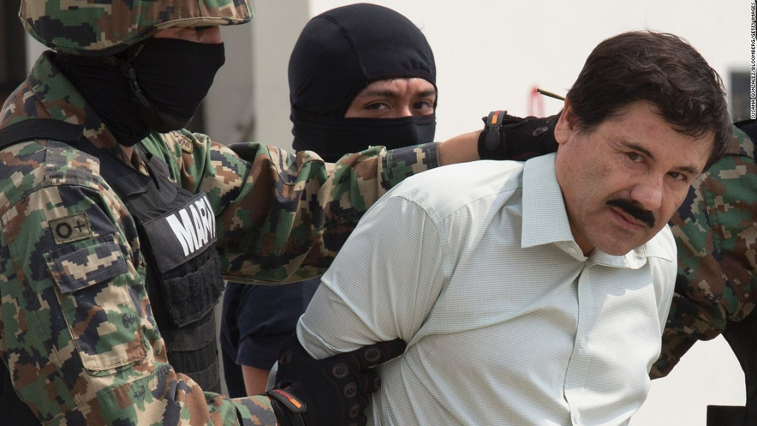 "Mexican drug lord Joaquin ""El Chapo"" Guzman <a href=""http://www.cnn.com/2017/01/19/us/el-chapo-guzman-turned-over-to-us/index.html"" target=""_blank"">has been extradited to the United States</a>, where he faces six indictments."
