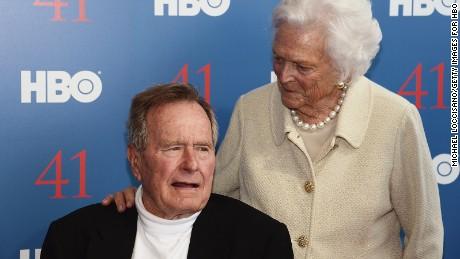 Bushes Spokesman George H W Barbara Both On The