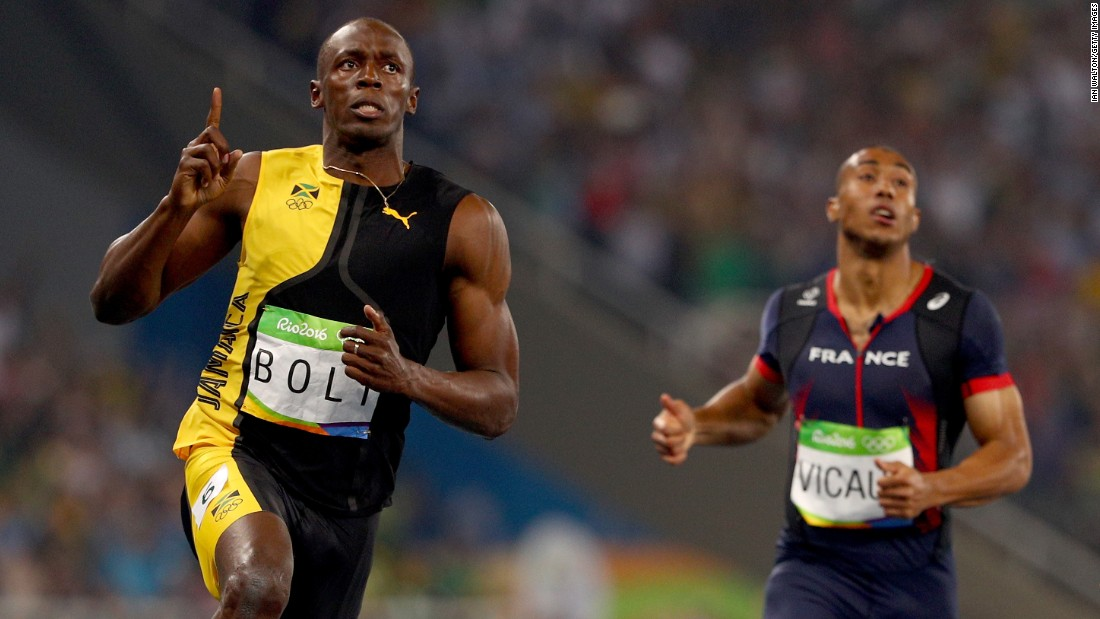 Usain Bolt: Jamaican makes Olympic history with 100-meter ...