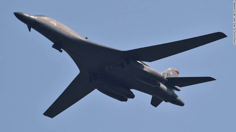 us b 1 bombers fly over south korea in show of force cnnpolitics. Black Bedroom Furniture Sets. Home Design Ideas