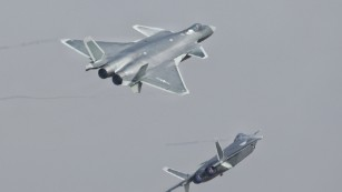 China shows off new J-20 stealth fighter