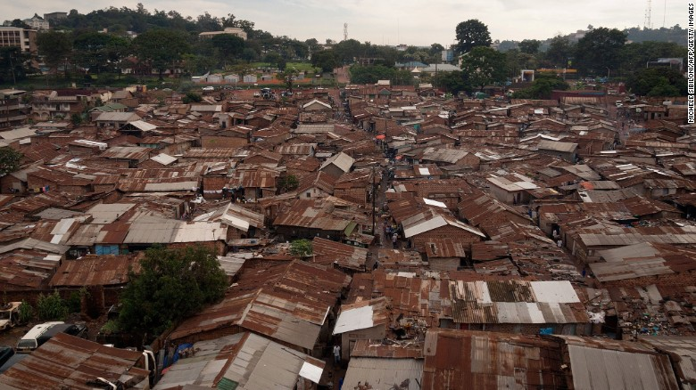 Critics say Bridge International Academies are indecently profiting from the poor in Uganda, who live in slums like this.