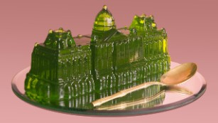 Jelly palaces and cow dung vases: Cool designs from bizarre materials
