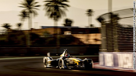 MARRAKECH, MOROCCO - NOVEMBER 12: In this handout image supplied by Formula E, Jean-Eric Vergne (FRA), Techeetah, Spark-Renault, Renault Z.E 16 during the FIA Formula E Championship Marrakesh ePrix at the Circuit International Automobile Moulay El Hassan on November 12, 2016 in Marrakech, Morocco. (Photo by LAT Photographic/Formula E via Getty Images)