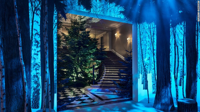 Natural greenery and photographic imagery combine to dramatic effect at Claridge's.
