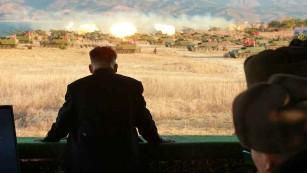 North Korean leader Kim Jong Un leads military drills focused on artillery battle training on Thursday, December 1.