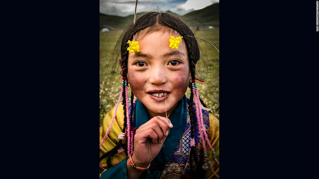 China's Zijie Gong, 16, earned a runner-up prize in the Young Travel Photographer of the Year 15-18 category for this image of a child on the Sichuan/Tibet border in China.
