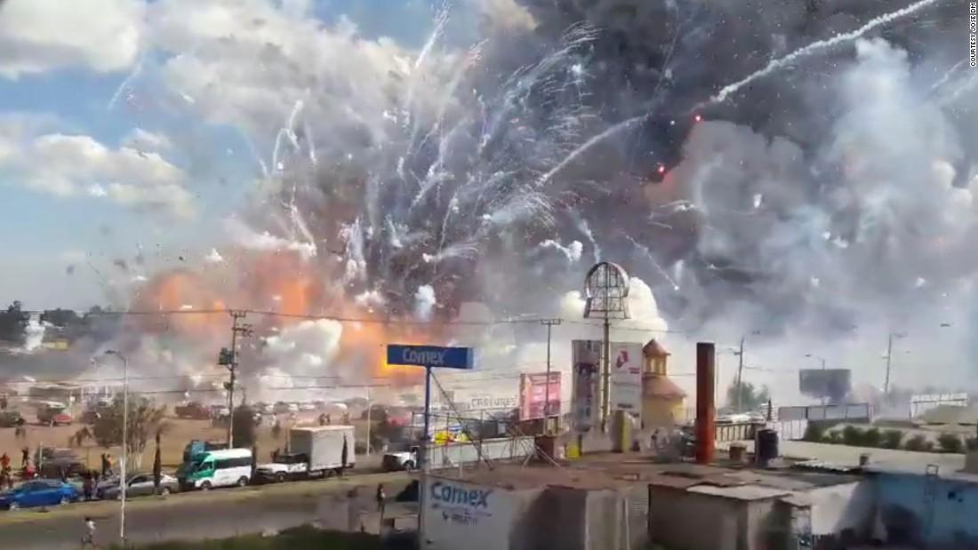 Mexico Fireworks Market Explosion Leaves 35 Dead Cnn Com