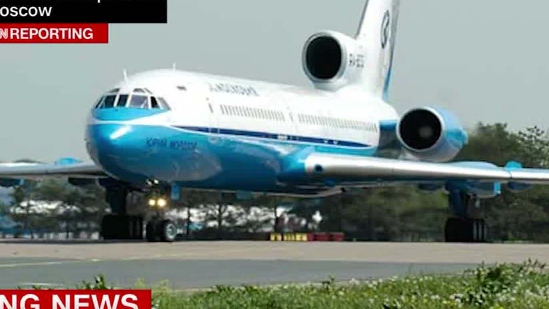 image of Russian military plane crashes over Black Sea