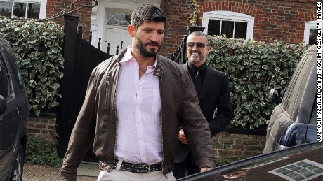 George Michael Right And Fadi Fawaz Outside Their London Home In 2017