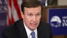 Sen. Chris Murphy (D-CT) participates in a discussion about legislation to halt the sale of some weapons to Saudi Arabia at the Center for the National Interest September 19, 2016 in Washington, DC.