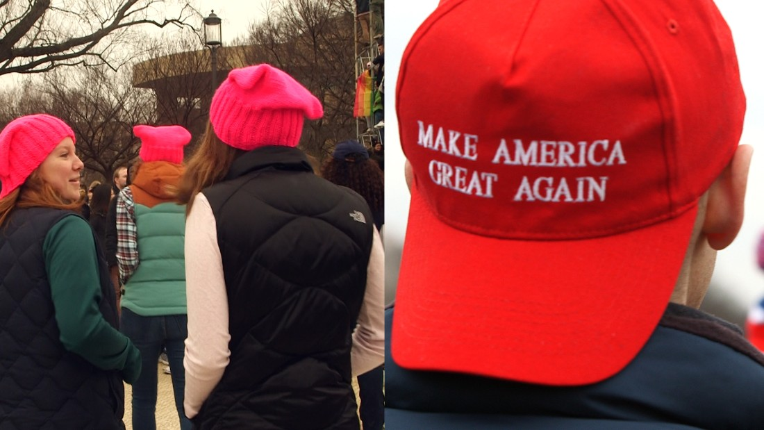 Two very different meanings for two brightly colored hats