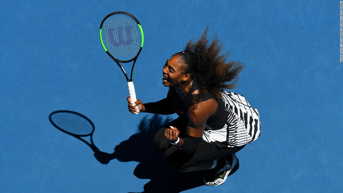 Serena Williams makes 10th straight grand slam semifinal at Australian Open