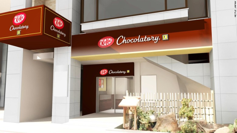 <strong>Tokyo's swankiest neighborhood:</strong> Ginza's KitKat Chocolatory, which opens on February 2, will be the ninth shop of its kind.