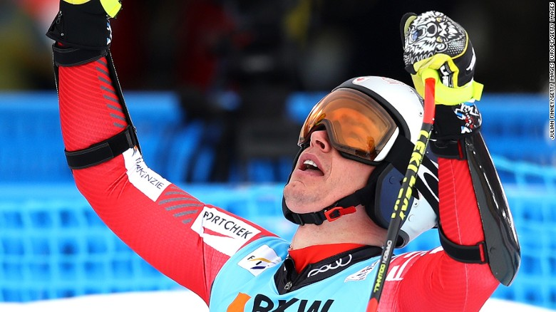 Erik Guay won the world super-G title at the age of 35.