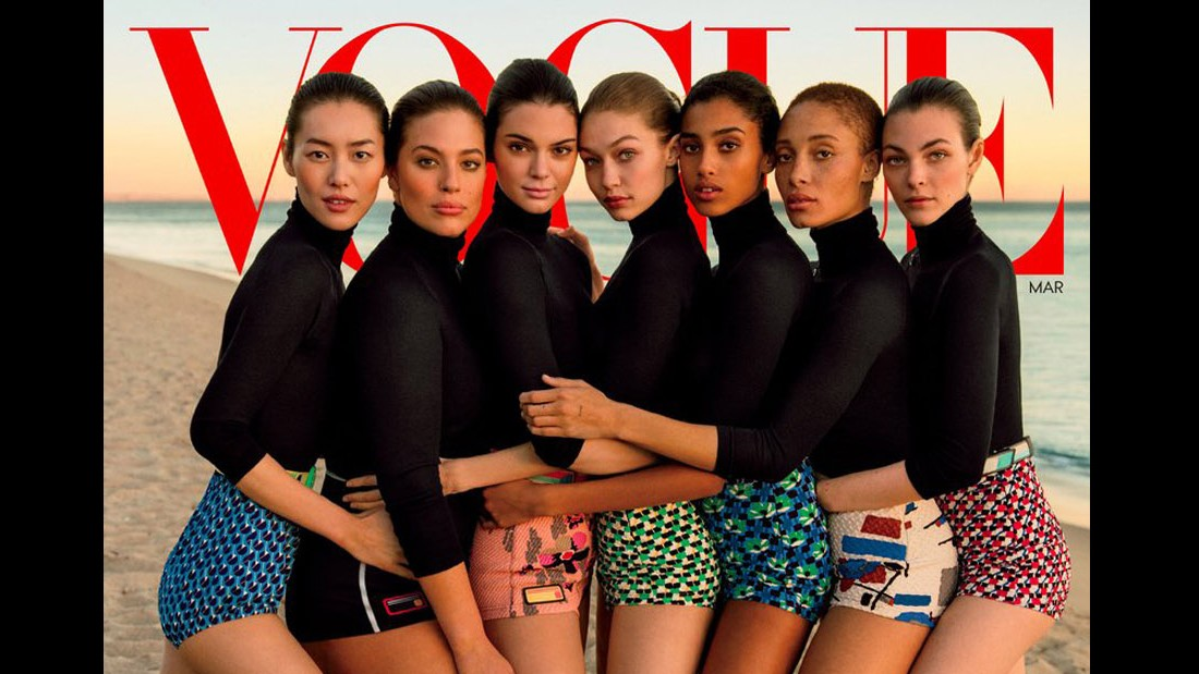 Vogues diverse March cover slammed as not so diverse