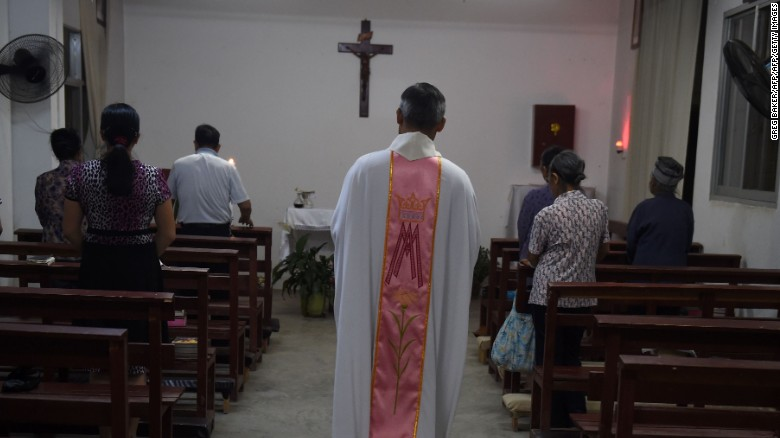 There are millions of Catholics in China, but around half practice their religion outside the government-run church.
