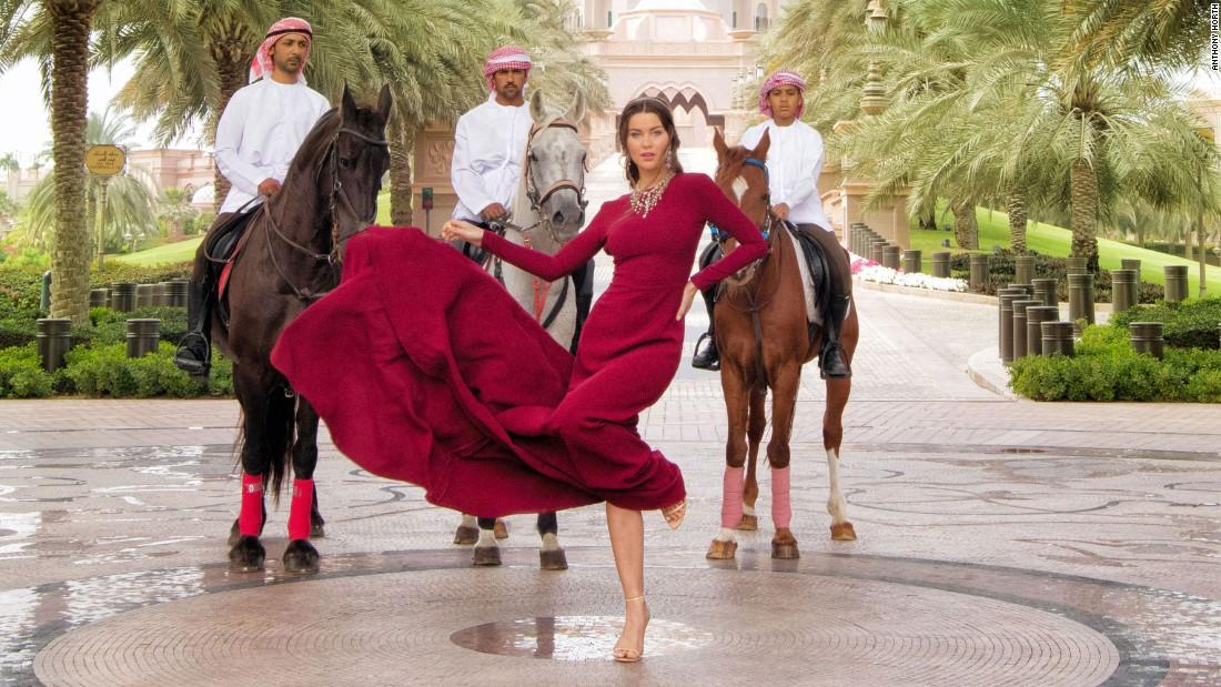 Abu Dhabi Emirates Palace hotel photoshoot turns up the opulence