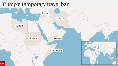 What Six Countries Are In The Travel Ban