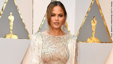 HOLLYWOOD, CA - FEBRUARY 26:  Chrissy Teigen arrives at the 89th Annual Academy Awards at Hollywood & Highland Center on February 26, 2017 in Hollywood, California.  (Photo by Steve Granitz/WireImage)