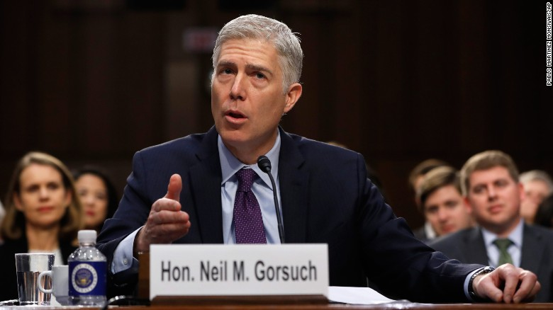 Image result for neil gorsuch confirmation hearing