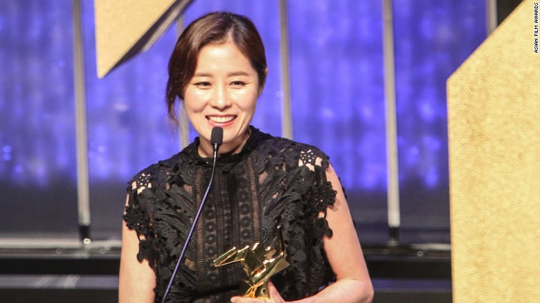 """South Korean actress Moon So-ri won Best Supporting Actress for """"The Handmaiden."""""""