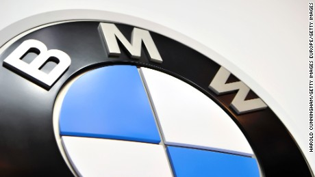 GENEVA, SWITZERLAND - MARCH 02:  A BMW logo is displayed during the Geneva Motor Show 2016 on March 2, 2016 in Geneva, Switzerland.  (Photo by Harold Cunningham/Getty Images)