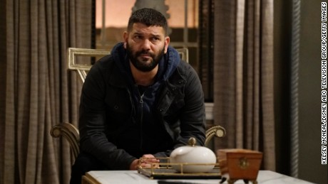 "SCANDAL - ""A Traitor Among Us"" - After discovering new information about the assassination of Frankie Vargas, Olivia makes a shocking decision and asks Huck to complete one of the most difficult tasks yet, on ""Scandal,"" airing THURSDAY, MARCH 23 (9:01-10:00 p.m. EST), on The ABC Television Network. (Kelsey McNeal/ABC via Getty Images)