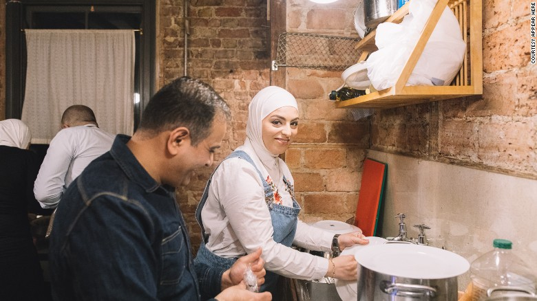Many volunteered to help Imad with his pop up restaurant in London.