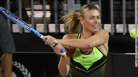 Sharapova has served a 15-month doping ban.