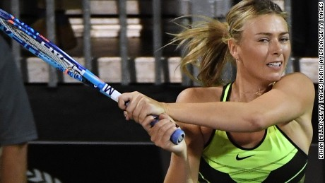 Sharapova was suspended for 15 months for failing a drugs test