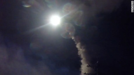 US warships launch cruise missiles at Syria